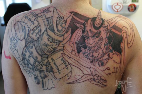 samourai et hannya