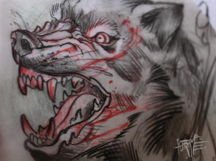 sketch wolfpack