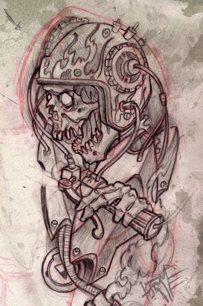 dessin jerome bras moto