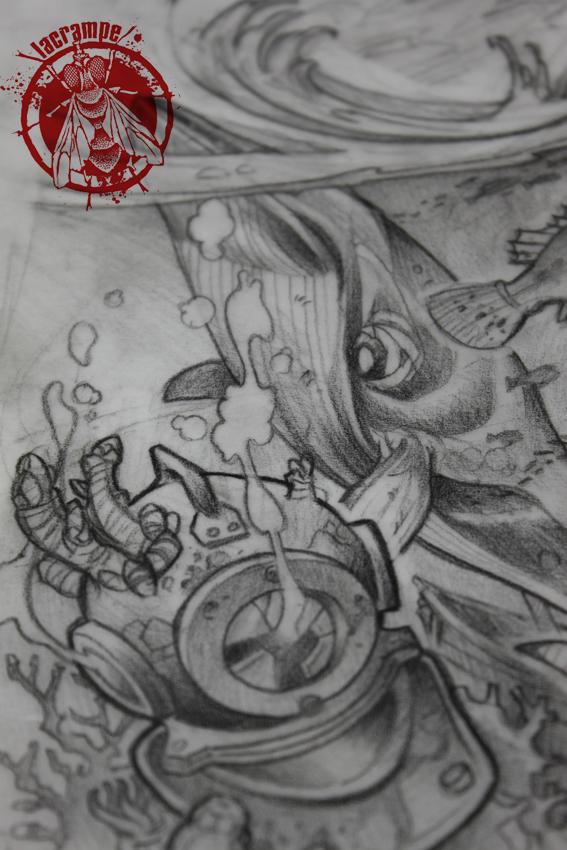 Christelle jambe dessin